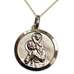 Médaille St Christophe en plaqué or prénom