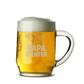 Chope de bière Papa d'enfer