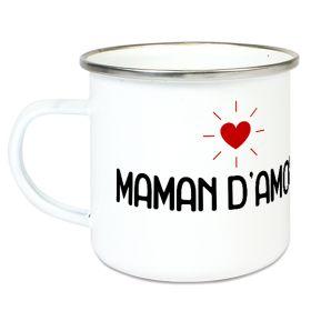 Tasse émaillée Maman d'amour