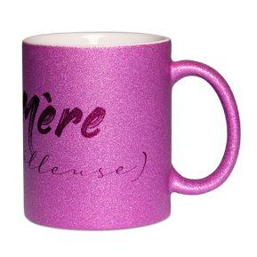 Mug à paillettes Mère (veilleuse)