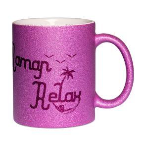 Mug à paillettes Maman Relax