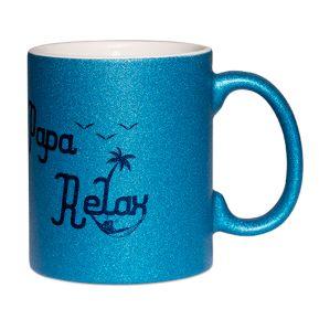 Mug à paillettes Papa Relax