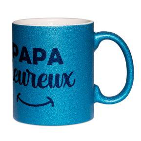 Mug à paillettes Papa heureux