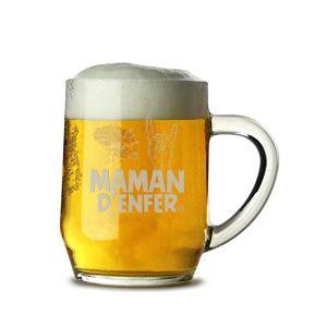Chope de bière Maman d'Enfer
