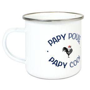 Tasse émaillée Papy poule