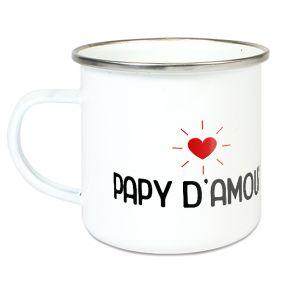 Tasse émaillée Papy d'amour