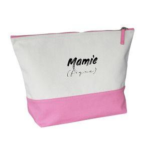 Grande trousse bicolore Mamie (fique)