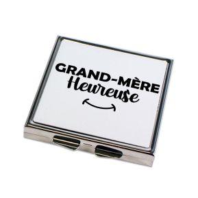 Miroir de poche Grand-mère heureuse