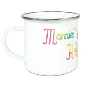 Tasse émaillée Mamie Relax