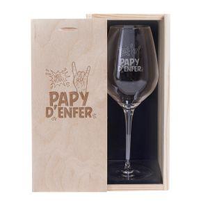 Verre à vin Papy d'enfer