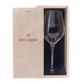 Verre à vin Papy d'amour