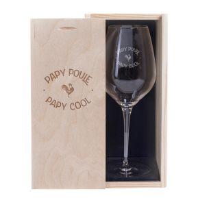 Verre à vin Papy Poule - Cool