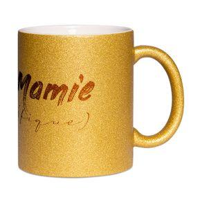 Mug à paillettes Mamie (fique)