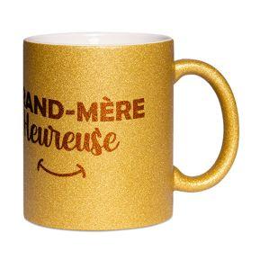 Mug à paillettes Grand-mère heureuse