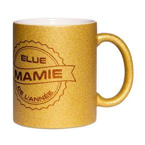 Mug à paillettes Mamie de l'année