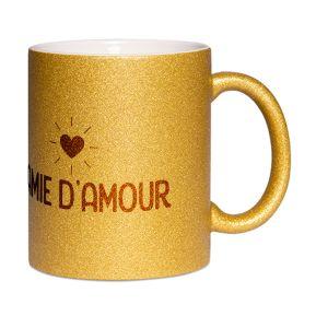 Mug à paillettes Mamie d'amour