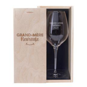 Verre à vin Grand-mère heureuse