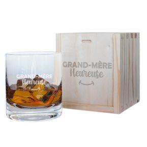 Verre à whisky Grand-mère heureuse