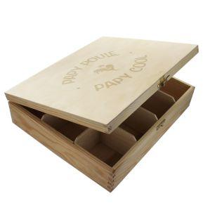 Boîte à thé Papy Poule - 12 compartiments