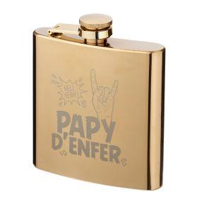 Flasque dorée Papy d'enfer