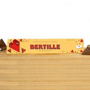 Toblerone 360g au Chocolat au Lait personnalisé Love