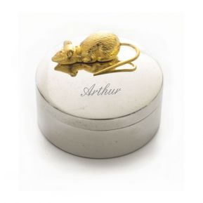 Boîte à dent souris gravée