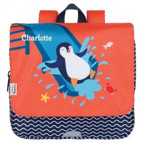 Cartable Tann's pour enfant brodé - Pingouin