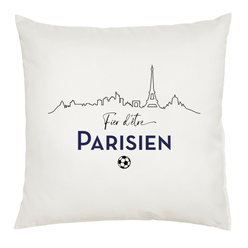 Coussin blanc Fier d'être Parisien