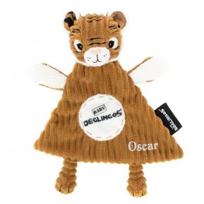 Mini Doudou Déglingos Speculos le Tigre brodé
