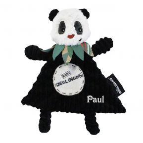 Mini Doudou Déglingos Rototos le panda personnalisé