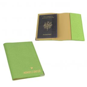 Etui passeport cuir Maman d'amour