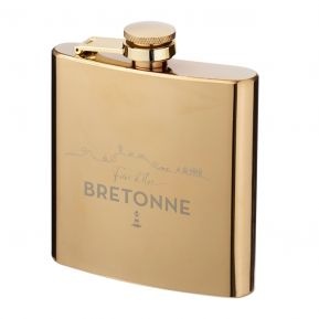 Flasque dorée Fier d'être Breton