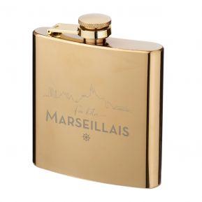 Flasque dorée Fier d'être Marseillais