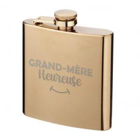 Flasque dorée Grand-mère heureuse
