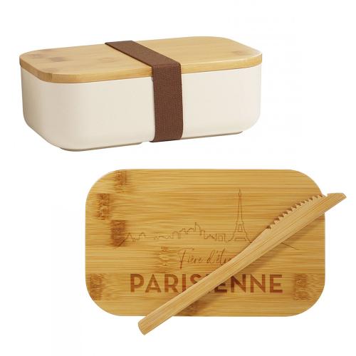 Lunchbox en bambou Fière d'être Parisienne