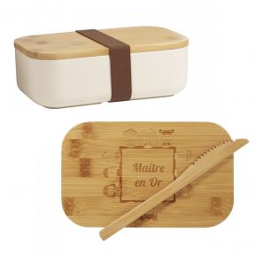 Lunchbox en Bambou Maître en or