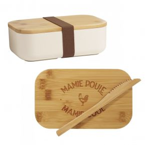 Lunchbox en Bambou Mamie Poule Mamie Cool