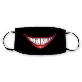 Masque hygénique en tissu personnalisé sourire d'Halloween