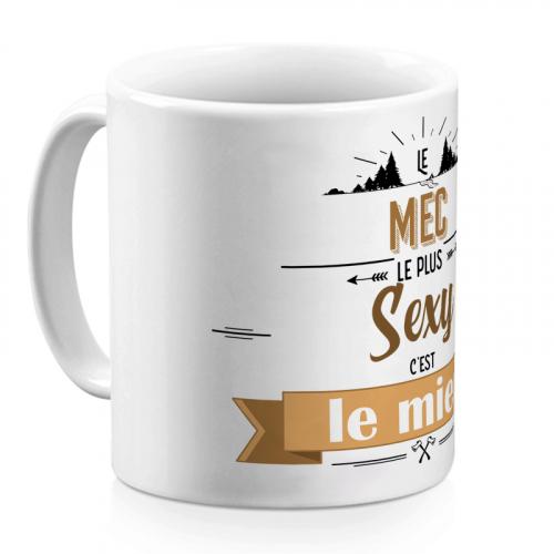 Mug personnalisé Explorateur - marron