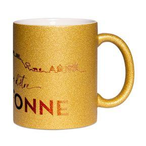 Mug à paillettes Fier d'être Breton