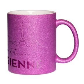 Mug à paillettes Fier d'être Parisien