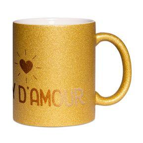 Mug à paillettes Papy d'amour