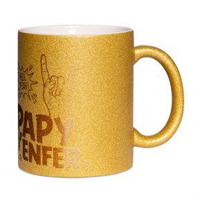 Mug à paillettes Papy d'enfer