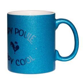 Mug à paillettes Papy poule papy cool