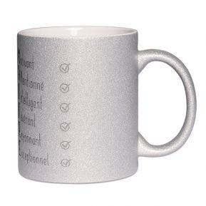 Mug à paillettes Les qualités du Maître