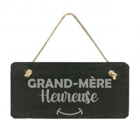 Plaque de porte en ardoise Grand-mère heureuse