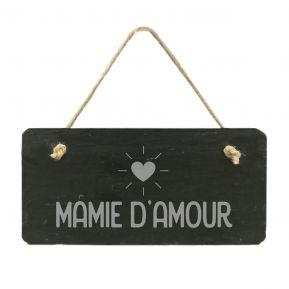 Plaque de porte en ardoise Mamie d'amour