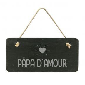Plaque de porte en ardoise Papa d'amour