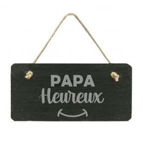 Plaque de porte en ardoise Papa Heureux