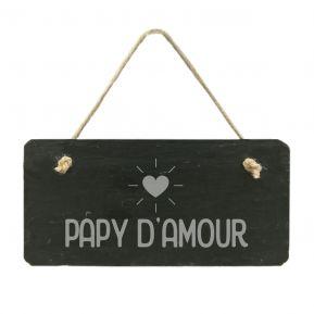 Plaque de porte en ardoise Papy d'amour